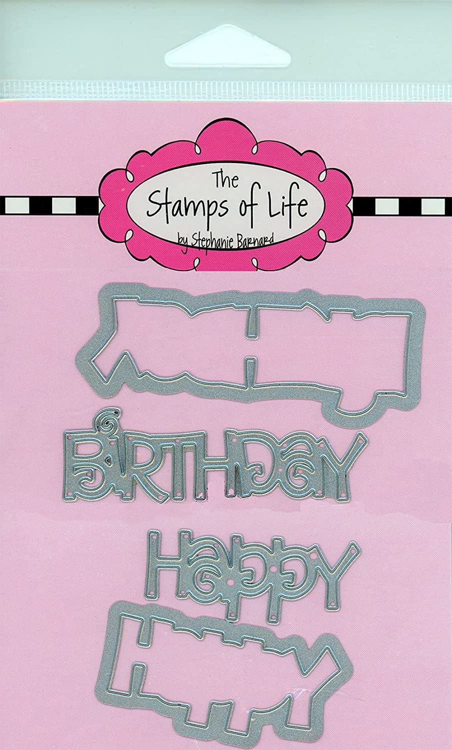 Happy Birthday Die for Scrapbooking and Card-Making and DIY Crafts by The Stamps of Life - Word Sentiments