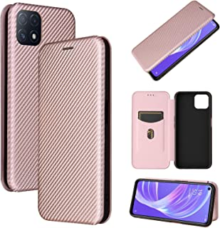 Mobile Phone Case Covers Compatible for OPPO A72 5G Carbon Fiber Texture Magnetic Horizontal Flip TPU + PC + PU Leather Ca...