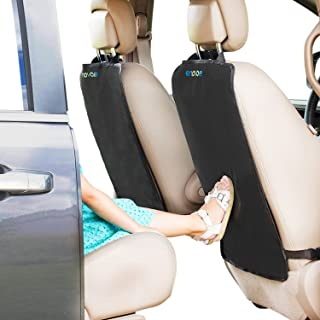 Enovoe Back Seat Protector for Kids - 2 Pack - Premium Quality Car Kick Mats - Best Waterproof Protection for Upholstery f...