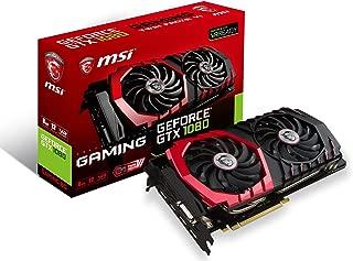 MSI Gaming GeForce GTX 1080 8GB GDDR5X SLI DirectX 12 VR Ready Graphics Card (GTX 1080 GAMING 8G)