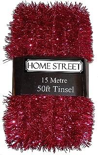 Homestreet Extra Long 15/Metre Argent ou Or D/écoration de No/ël 15,2/m Guirlande de No/ël dans Un Choix de Rouge