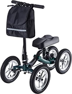 ELENKER Knee Scooter Economy Steerable Knee Walker Ultra Compact & Portable Crutch Alternative with 12