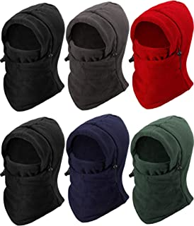 6 Pieces Windproof Ski Face Mask Winter Mask Balaclavas Head Hood for Men Women