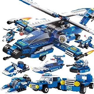 ولعبة مكعبات بناء ليغو الصبي تجميعها لعبة اللغز ، وحاملة طائرات صعبة وضخمة جزيئات الأطفال الصغيرة