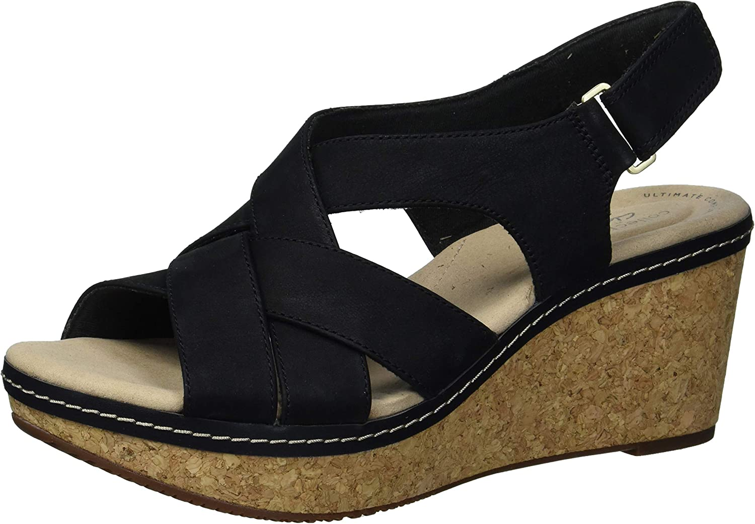 Clarks Women's Annadel Wedge Manufacturer direct delivery Pearl unisex Sandal