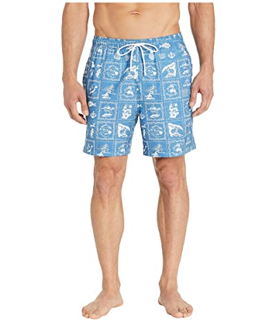 Southern Tide Reyn Spooner Bandana Swim Trunks (Pompeii Blue) Men