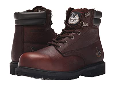 Georgia Boot Oiler 6 Steel Toe Waterproof (Dark Brown) Men