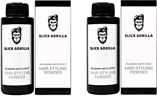 Slick Gorilla Hair Styling Texturizing Powder TWO PACK / 2 x 0.70 Ounce (20g)/ Volumizing Matte Effect