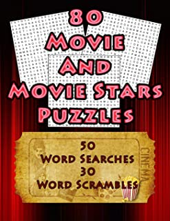 80 Movie And Movie Stars Puzzles: 50 Movie Themed Word Search And 30 Word Scramble Puzzles For Movie Enthusiasts (On Target Puzzles)
