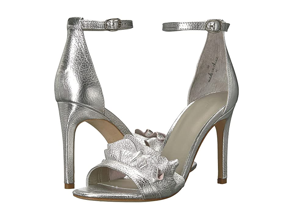 Joie Abigail (Silver Metal/Metallic Leather) High Heels