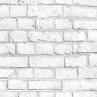RoomMates White Brick Peel and Stick Wallpaper