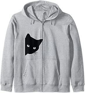 Cat Lover Ladies Spy Cat T-Shirt, Cat Mom Zip Hoodie