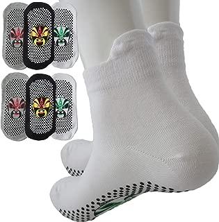Men's Ankle Non Slip Socks, Anti-Skid Gripper Socks for Running, Labor,Yoga, Fitness Hospital Slipper Pilates Socks