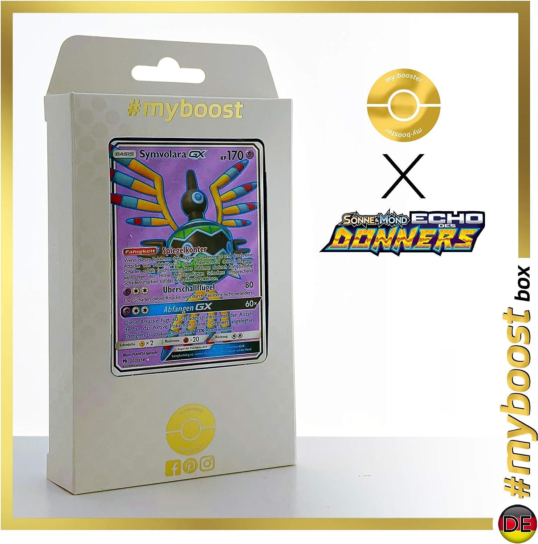 SYMVOLARA GX 202 214 Full Art -  myboost X Sonne & Mond 8 Echo des Donners - Box mit 10 Deutschen Pokémon-Karten B07KYRYHJL Queensland    Verschiedene Arten Und Die Styles