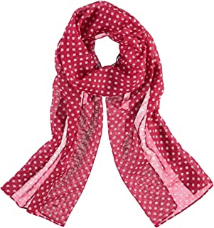 Accessories First Classic Polka Dot Womens Polyester Printed Scarf