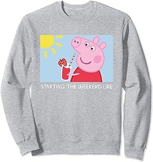 Peppa Pig Starting the Weekend Meme Sweatshirt