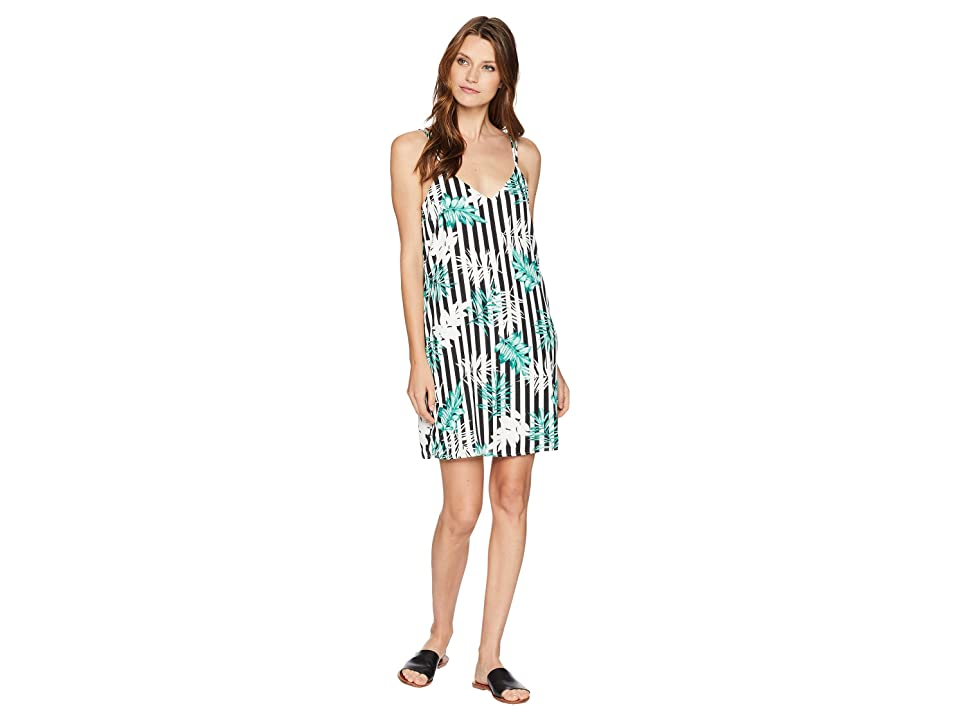 American Rose Lucille Spaghetti Strap Dress (Black/White/Green) Women