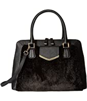 Calvin Klein - On My Corner Saffiano/Fur Satchel
