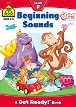 School Zone - Beginning Sounds Workbook - Ages 3 to 5, Preschool to Kindergarten, Letter-Object and Letter-Sound Association, Letter Sounds, Alphabet, and More (School Zone Get Ready!™ Book Series)