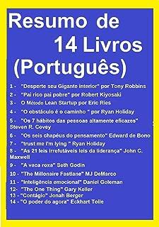 Resumo e Exercícios 14 Livros: Desperte seu Gigante interior, Pai rico Pai pobre, O Método Lean Startup, Os 7 hábitos das pessoas altamente eficazes, A ... The One Things, ... (Portuguese Edition)