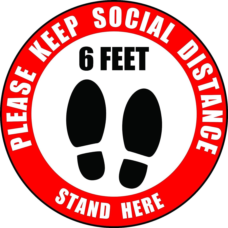 Bargain sale Social Distancing Floor Decals OFFicial site 12