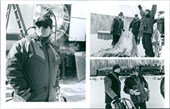 Vintage photo of Director Charles Haidand actor Mackenzie Astin in the set of the movie : Iron Will.