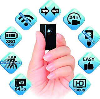 Spy Camera No WiFi Needed – Body Hidden Camera - Mini Spy Camera Motion Activated - Secret Nanny Cam Recorder with HD Video – Portable Stealth Spying Recording Cameras for Home Security Easy to Use