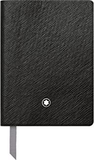 Montblanc Notebook Black Lined #145 Fine Stationery 113295 – Pocket-Size Journal with Elegant Leather Binding and Ruled Pages – 1 x (3.1 x 4.3 in.)