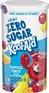 Kool-Aid Zero Sugar Tropical Punch Drink Mix, .91 oz Can