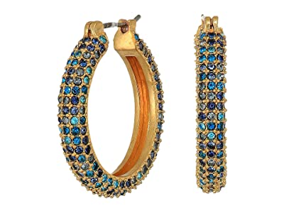 J.Crew Illy Pave Hoop Earrings (Bright Harbor) Earring