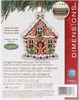 Dimensions Gingerbread House Ornament Counted Cross-Stitch Kit