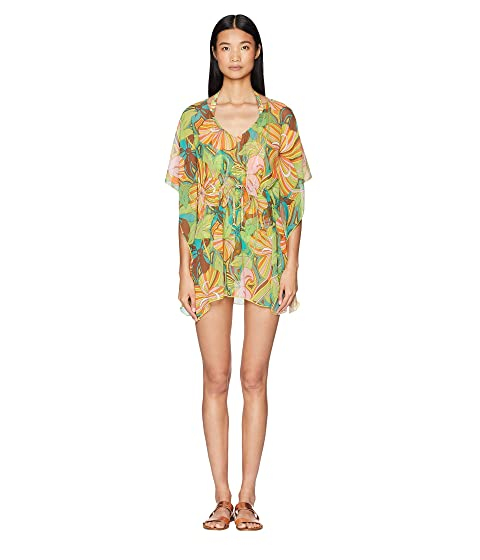 Letarte Mod Print Mesh Dress Cover-Up
