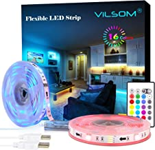 LED Strip Lights, ViLSOM 19.7ft USB Led-Light-Strip with Remote, RGB 5050 Color Changing Rope Lights for 40 to 100in TV Ba...
