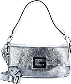 Guess Damen Brightside Shoulder Bag Umhängetaschen, Silber, Einheitsgröße EU