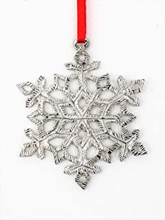 570 Snowflake Winter Christmas Ornament Pewter