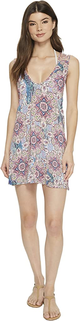 Luli Fama - Azucar Santa Cruz Braided Strings Short Dress Cover-Up