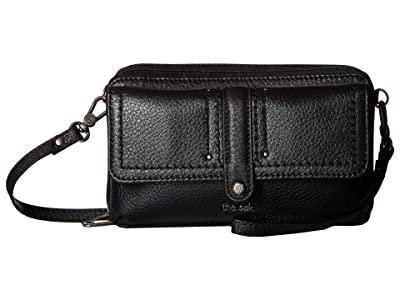 The Sak Sequoia Extra Large Smartphone Crossbody (Black) Cross Body Handbags