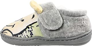 Winnie The Pooh Boys Grey Low Top Soft Touch Slippers UK Sizes Child 5-10