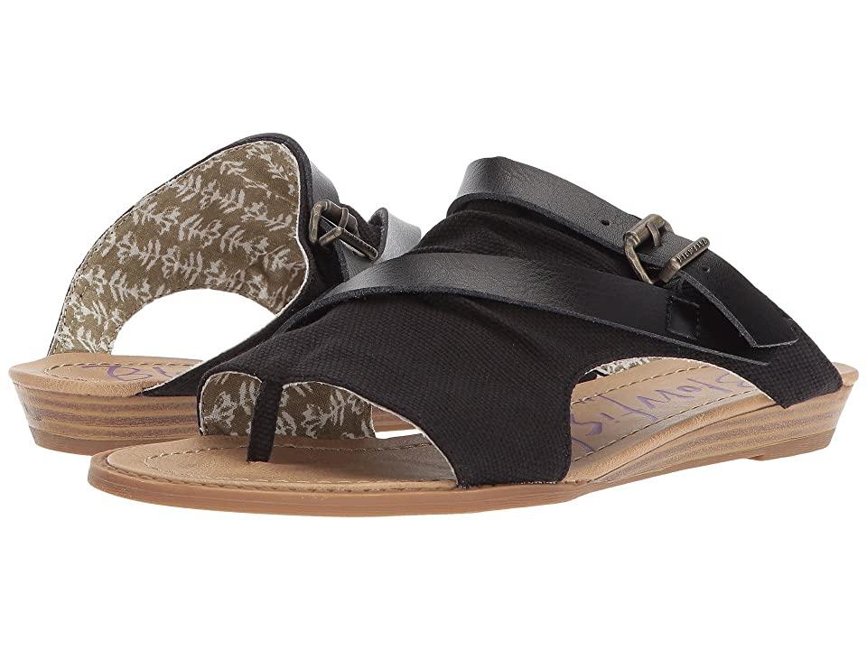 Blowfish Barria (Black Rancher Canvas/Dyecut PU) Women