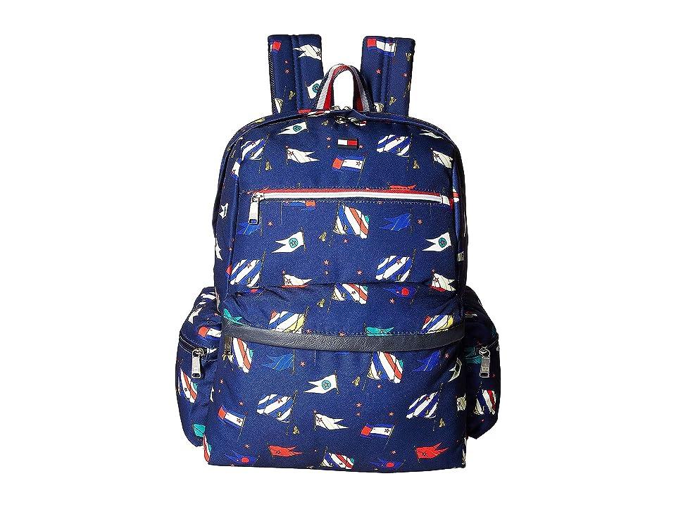 Tommy Hilfiger Safe Harbor Backpack (Navy Flags) Backpack Bags