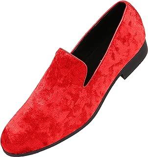 Hauser Men's Dress Shoes Crushed Velvet Luxurious Slip-on Driver Shoes for Men Velvet Loafers The Original Smoking Men Tuxedo Slipper Shoes