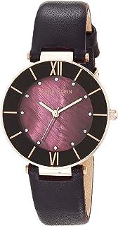 Women's AK/3272 Swarovski Crystal Accented Leather Strap Watch