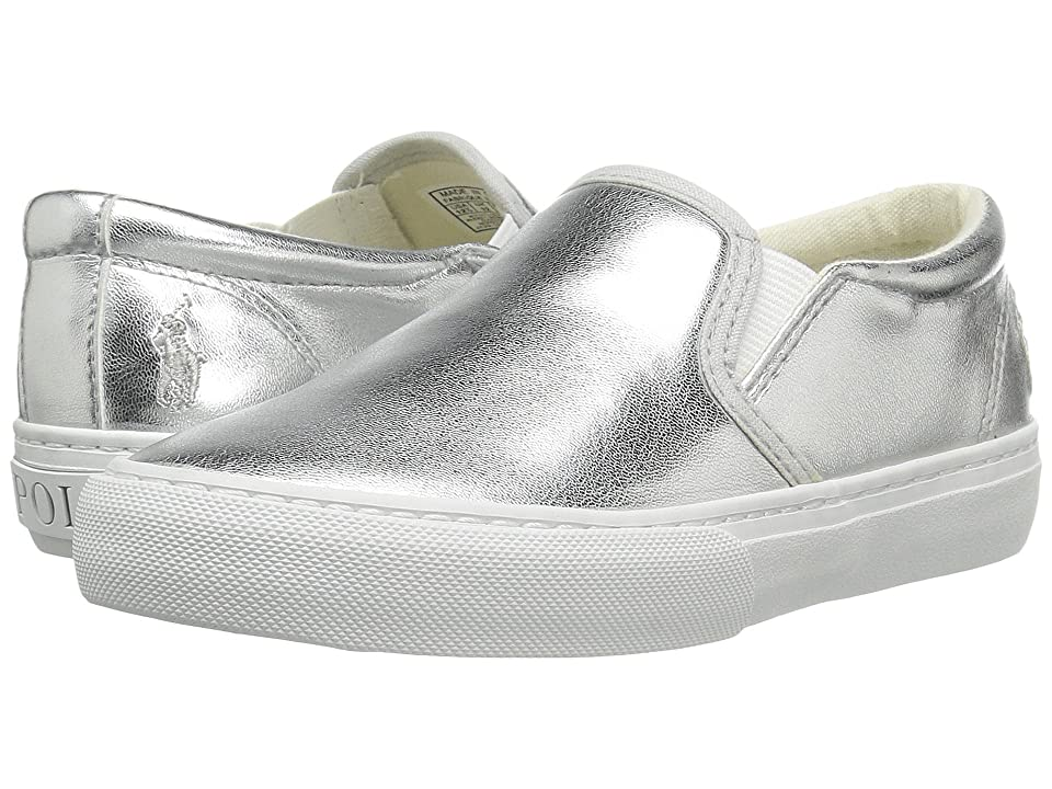 Polo Ralph Lauren Kids Carlee Twin Gore (Little Kid/Big Kid) (Silver Metallic) Girl