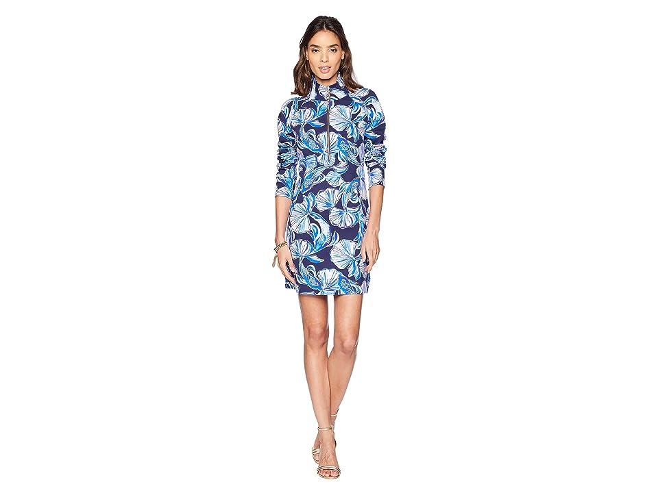 Lilly Pulitzer UPF 50+ Skipper Dress (Bright Navy in Reel Life) Women