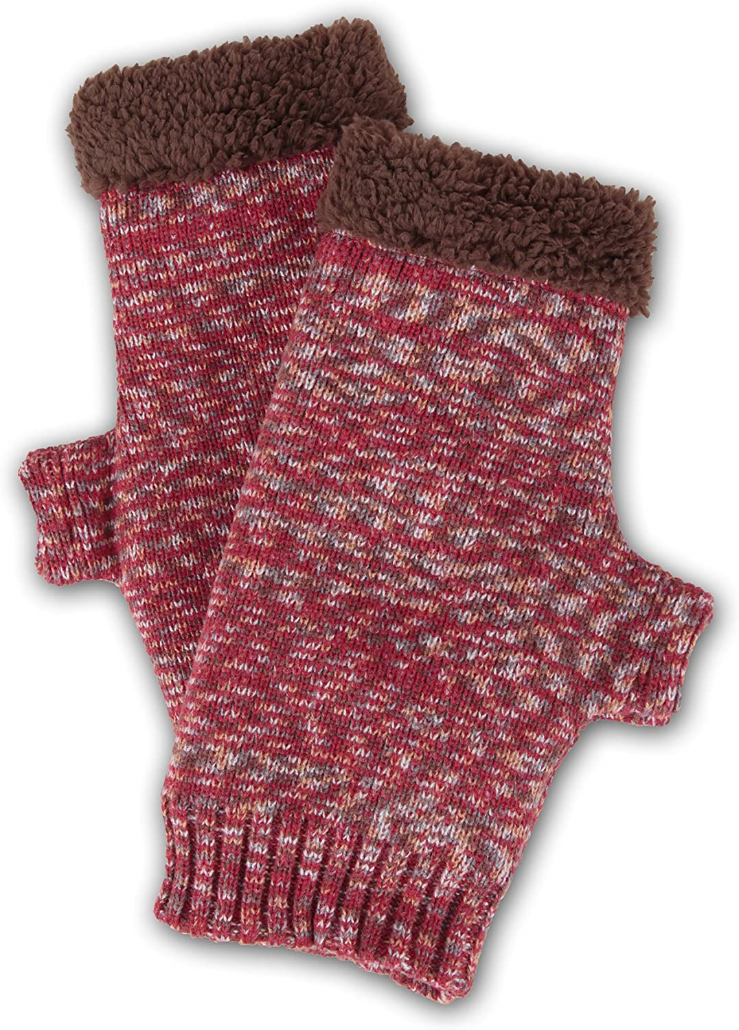 World's Softest Women's Weekend Collection Ragg Knit Fingerless Gloves One Size Fits Most (Winter)