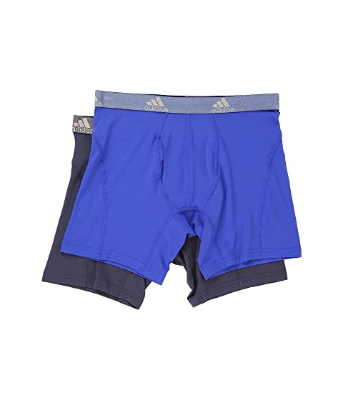 Free Shipping Inexpensive Cheap New Styles adidas Relaxed Performance Climalite 2-Pack Boxer Brief Bold Blue Urban Sky Latest Collections Sale Online yuOh2