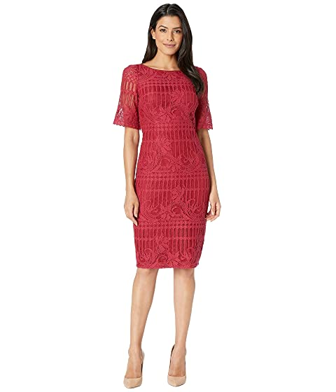 adad280dfbf Adrianna PapellCarolina Scalloped Lace Sheath Dress w  Rounded Neckline
