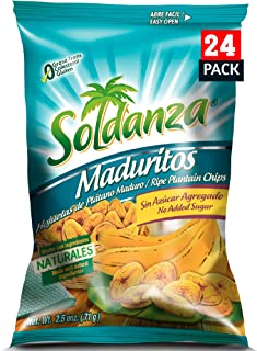 soldanza Maduritos Plantain Chips, 60 Ounce, Pack of 24