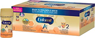 Enfamil Enfamil A+ 2 Baby Formula, ready to feed bottles, Nipple-Ready 237ml 18 count