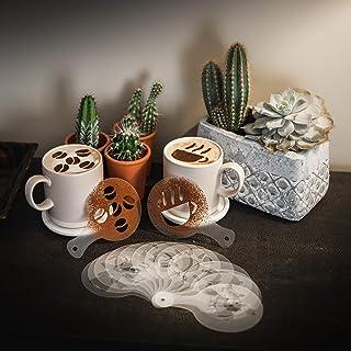 16PC Cappuccino Coffee Stencils Festive Xmas Various Design Barista Art and Cake Decoration Tools TRIXES